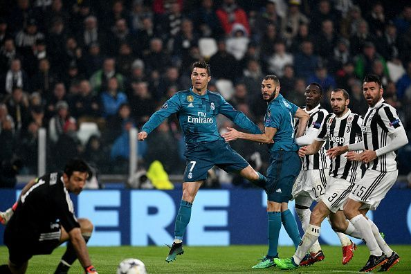Ronaldo has now scored nine times against both Juventus and Bayern