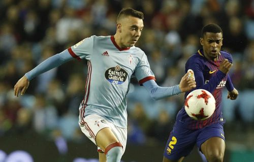 Aspas (L) has continued to be Mr. Reliable for Celta