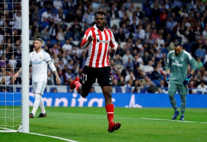 Inaki Williams celebrating goal against Real Madrid, La Liga 2017/18
