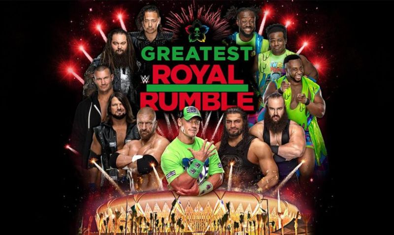 Fifty men will compete in the largest Royal Rumble-style match in WWE's history.
