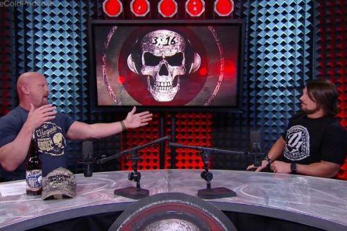 Stone Cold Steve Austin with AJ Styles