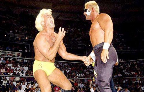 Sting and Ric Flair wrestled to a 45 minute time limit draw on the first ever Clash of the Champions.