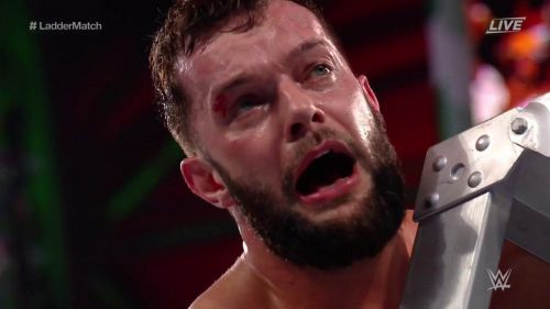 Finn Balor came off worse in the Intercontinental Championship ladder match
