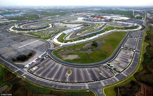 Chinese GP Circuit from Above