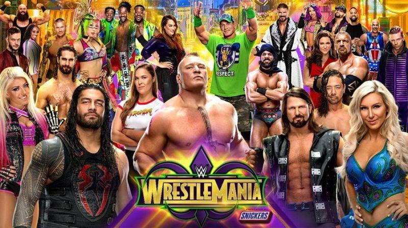 WrestleMania 34 poster.