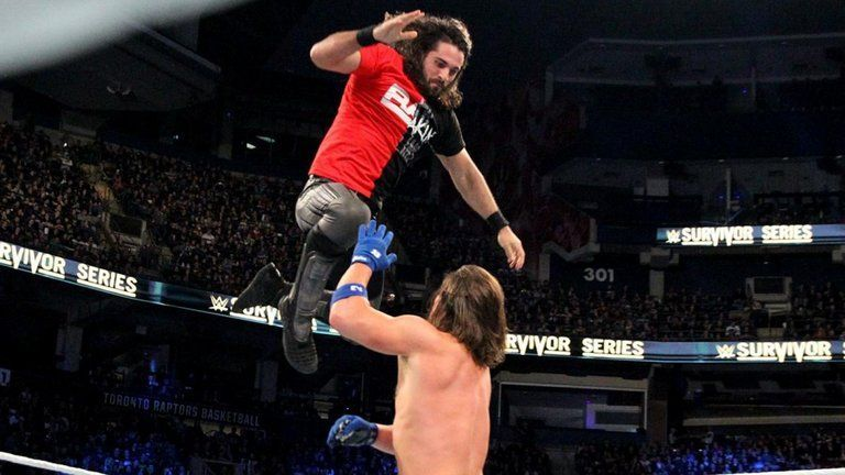 Image result for seth rollins vs aj styles