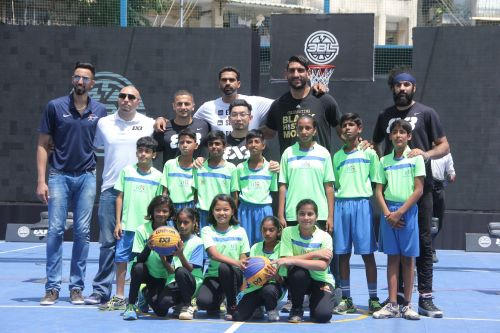 The launch witnessed the presence of Basketball superstars like Satnam Singh, Amjyot Singh, and Palpreet Singh Brar