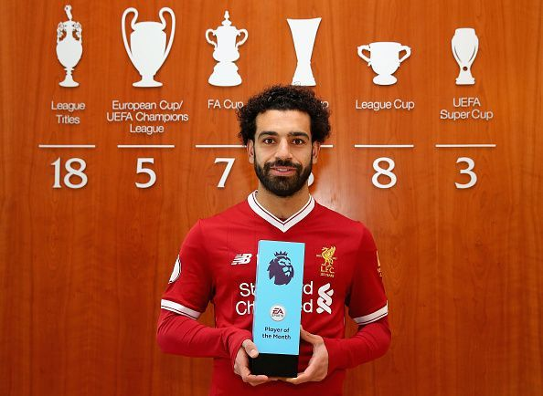Mohamed Salah is Awarded with the EA SPORTS Player of the Month for March