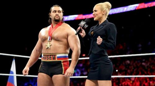 Lana and Rusev during their original heel run as