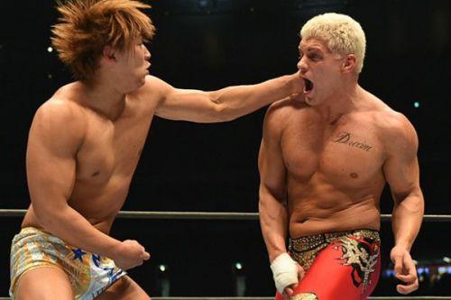 Kota Ibushi and Cody Rhodes during their WK 12 match