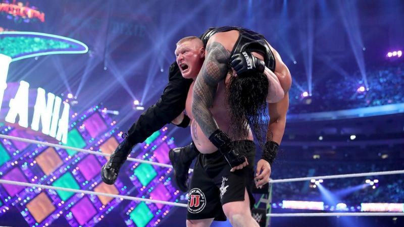 Brock Lesnar hit the F5 on Roman Reigns 5 Times at Wrestlemania 34