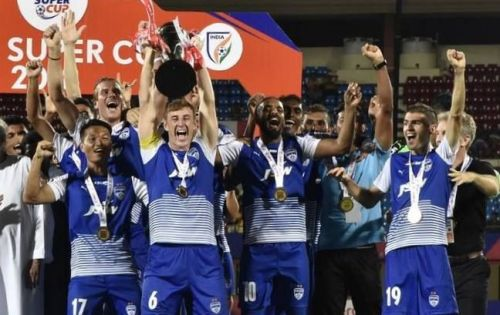 John Johnson won his 5th trophy in 5 years with Bengaluru FC