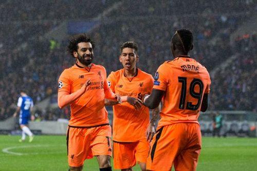 Liverpool trio Salah Firmino Mane