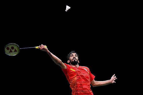 Kidambi Srikanth going for a smash