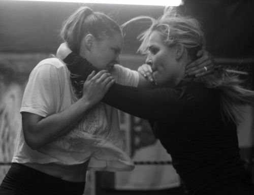 Why are Natalya and Ronda Rousey working together?
