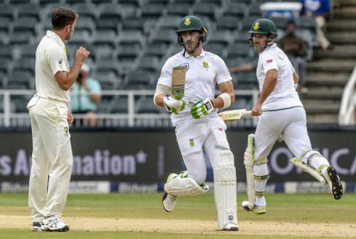 Image result for South Africa vs Australia 2018: 4th Test, Day 4 du Plessis and Elgar