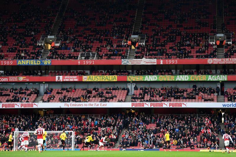 Emirates Stadium is getting empty
