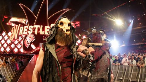 The Bludgeon Brothers make their entrance at WrestleMania