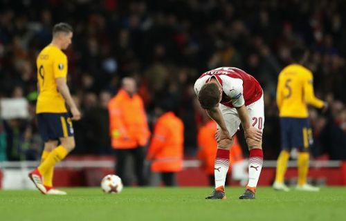 Arsenal FC v Atletico Madrid - UEFA Europa League Semi Final Leg One