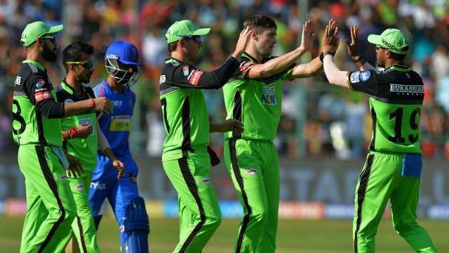 RCB team in green jersey