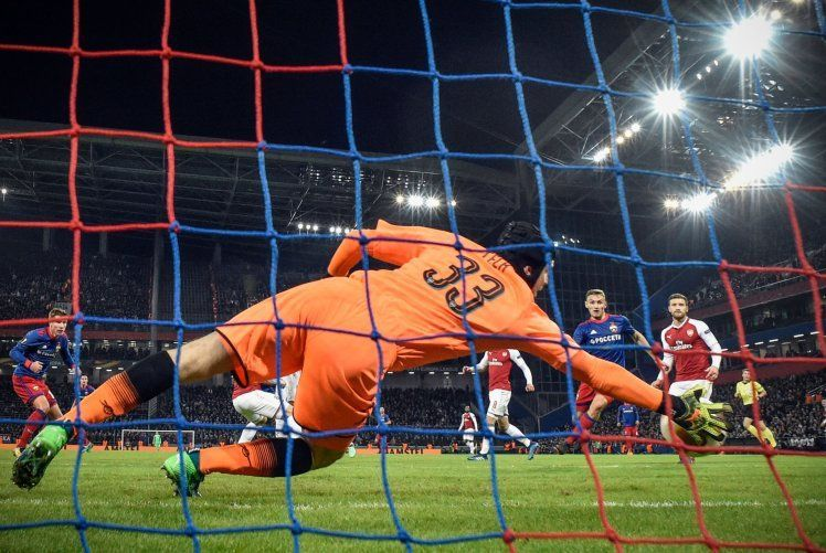 Cech could have done much better to save CSKA Moscow