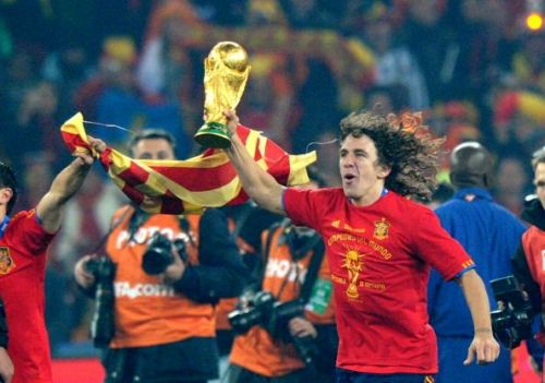 Carles Puyol 2010 World Cup champion