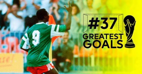 Roger Milla's dancing hips caught the world's imagination when he set Italia '90 alight with his goals