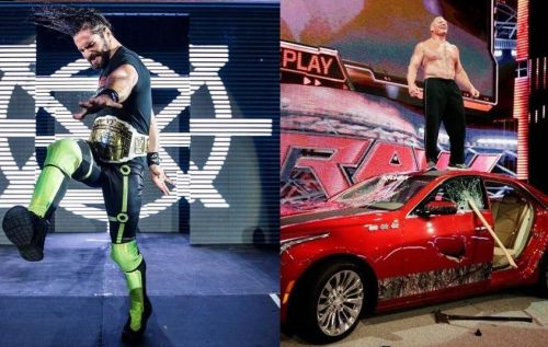 Brock Lesnar and Seth Rollins likely to commence their feud in the days to come