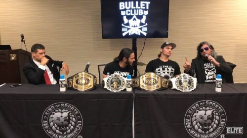 (Starting from left to right) Cody, The Young Bucks, and Kenny Omega
