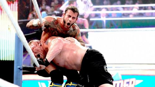 CM Punk, former two time Money in the Bank briefcase holder, faced Brock Lesnar in a No Disqualification Match