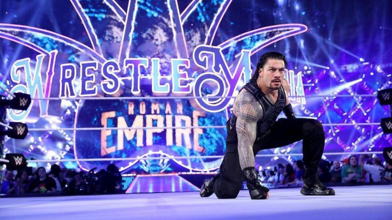 Roman Reigns at WrestleMania 34