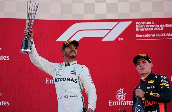 Winner of Spanish F1 Grand Prix 2018 - Lewis Hamilton.