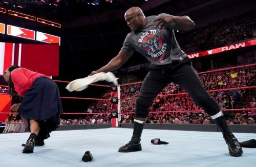 Bobby Lashley laid a beat-down on the impostors who were pretending to be his sisters