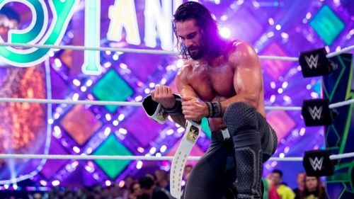 Seth Rollins wins the Intercontinental Championship at WrestleMania 34