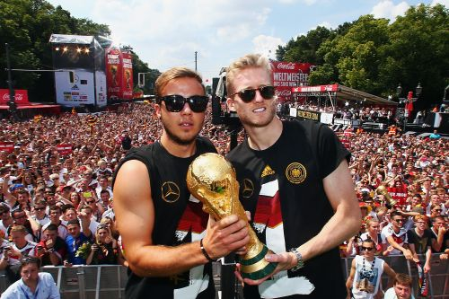 The two players who combined to score the winning goal in the 2014 World Cup final have been left out