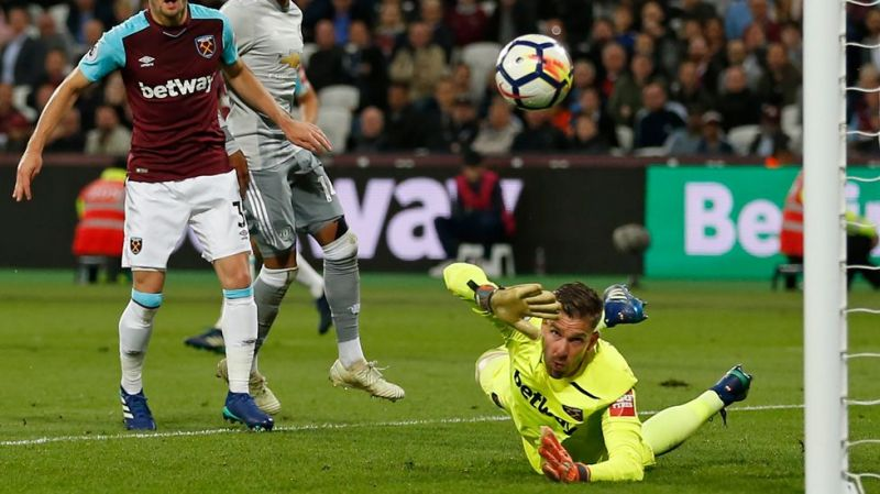 Adrian was kept busy and made to earn his clean sheet with a string of fine saves