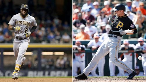 Starling Marte (left) and Austin Meadows