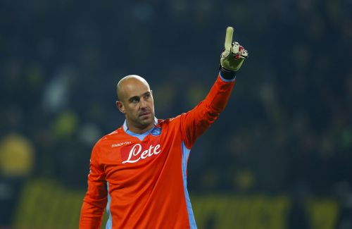 The Spaniard guarded the Napoli net with great aplomb