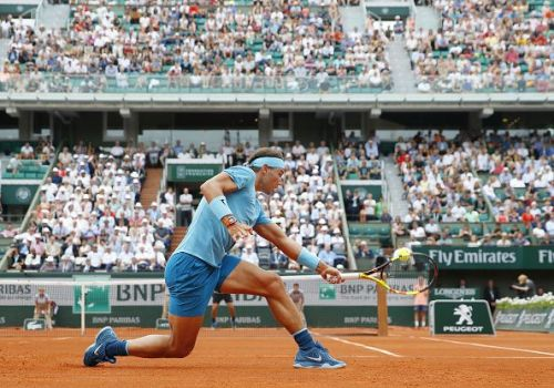 Tennis: Nadal of Spain at French Open