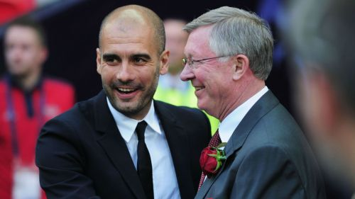 Pep Guardiola Alex Ferguson - cropped