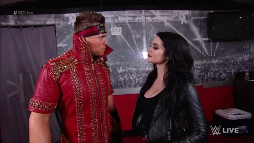 Paige wouldn't allow Miz to back out of the match