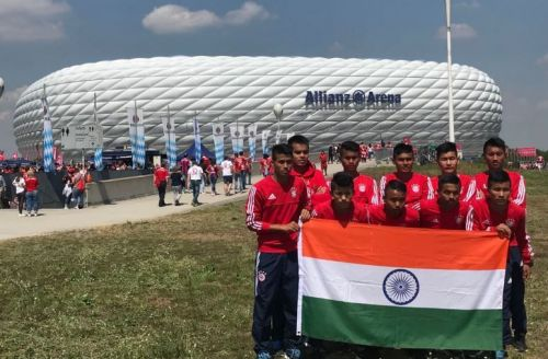 The team that represented India at the Bayern Munich Youth World Cup.