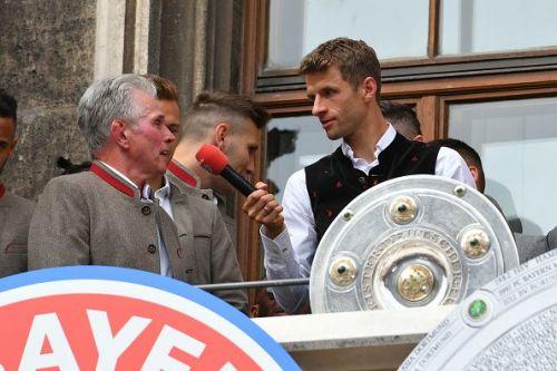 FC Bayern Muenchen Celebrate Winning The Bundesliga