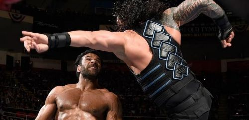 Roman Reigns vs. Jinder Mahal.