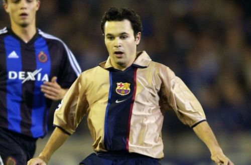Iniesta at 18 years old, playing against Club Brugge