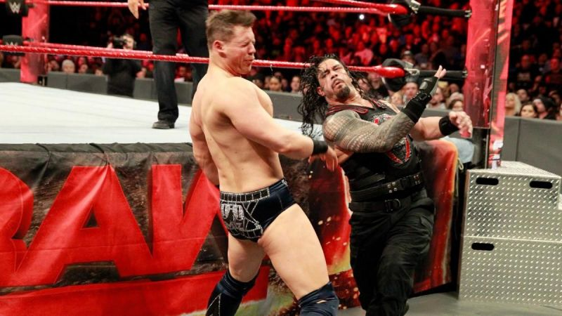 Roman Reigns squared off with the Miz for the Intercontinental Title