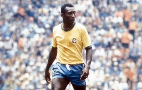 Pele during the 1970 WOrls Cup in Mexico