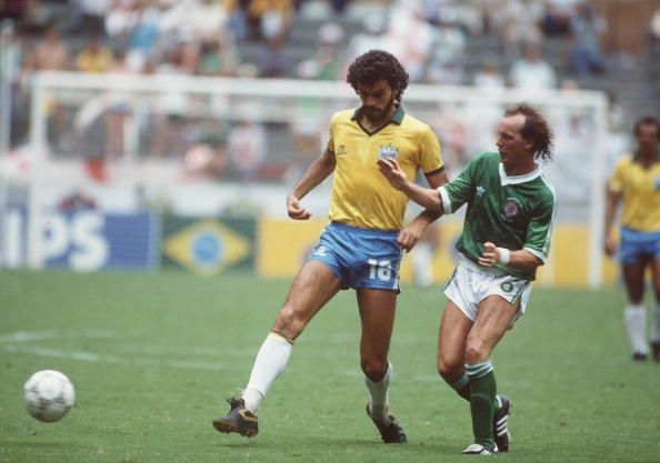 1986 World Cup Finals. Guadalajara, Mexico. 12th June, 1986. Brazil 3 v Northern Ireland 0. Brazil