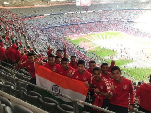 The Indian boys had the experience of a lifetime, as they were given the opportunity to watch Bayern Munich face off against Stuttgart at the Allianz Arena.