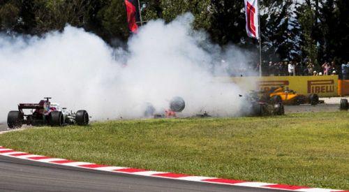 Romain Grosjean's spin in Spain